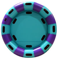 Round Family Raft - Light Teal/Purple